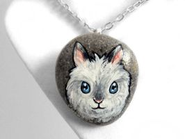 Lionhead Rabbit Pendant Necklace by sobeyondthis