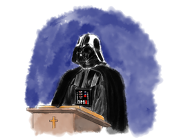 Darth Vader Reads the Bible by sirustalcelion