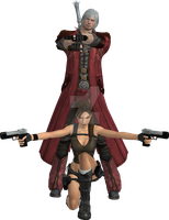 Dante X Lara Croft 17 by candycanecroft