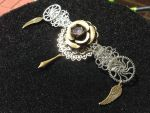 Filigree Clockwork Hair Barrette by CrossTheHatter