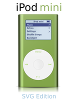 iPod mini - SVG Edition by sa-ki