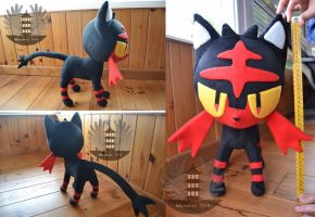 Life size Pokemon LITTEN plush by ArtesaniasIris
