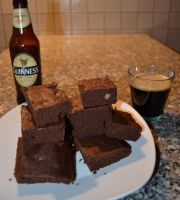 Double chocolate and Guinness brownies by IllyDragonfly