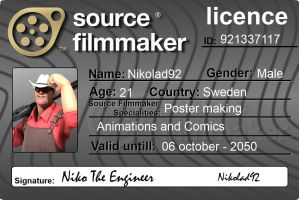 Source Filmmaker Licence V2 Niko The Engineer by Nikolad92