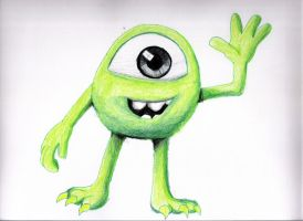 Mike monsters university by vicockart