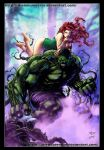Hulk and poison Ivy by diabolumberto