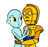 MLP EG - C3PO and Girl Collab Base 2 by Magic-Kristina-KW