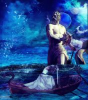 Poseidon and the Shield Maiden by designdiva3