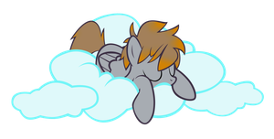 Scribbles On A Cloud Vector  by MLP-Scribbles