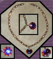 Violet Gem Necklace 3 by Windthin