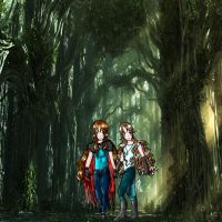 walking in the forest by warlike-magic