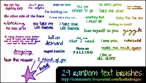 Random Text Brushes 016 by H0shii