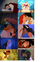 Disney Princesses first kisses by Midnightrosesblood