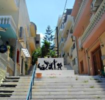 Street at Agios Nikolaos, Crete by Despina33