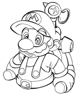 outln mario by thweatted