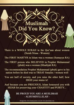 Muslimah Did You Know by Islamic Posters by billax