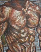 Muscle study by prismacolorjessie