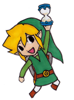 Chibi Link - Phantom Hourglass by EasterEgg23