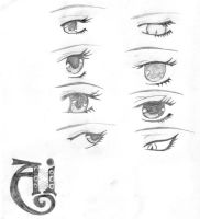 Ai's eyes by kay10007