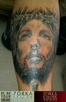 Jesus face by zorka calore tattoo by surfboyz12