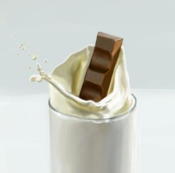 Milk and chocolate PAINTING by feawen