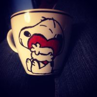 Snoopy Love Mug by JediSkygirl