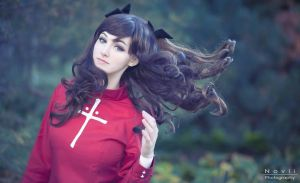 FATE/STAY NIGHT- Rin Tohsaka (2) by kazeplay