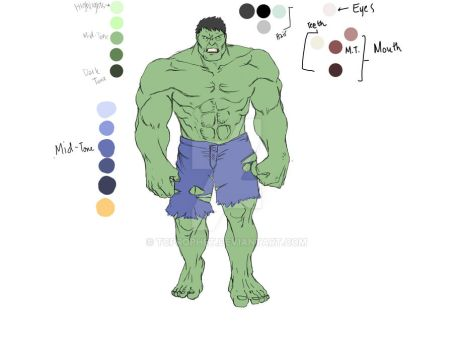 The Hulk Color WIP by tcprophet
