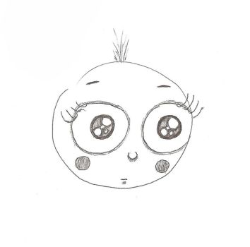 Not THE Baby Head - B+W by PiGirl13