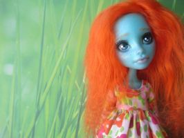Summer Day Lorna- Monster High OOAK Lorna McNessie by QTLAB