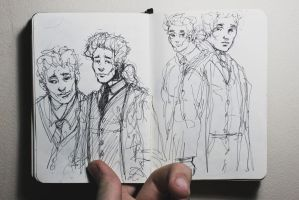 self sketches jan 31 2011 by Ithilean