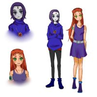 Raven and Starfire by jackie-chanler