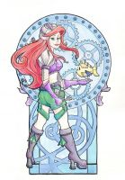 Steampunk Ariel Acrylic by khallion