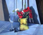 Still Life Withflower&glass Oilpaint by Boias