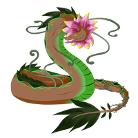 Egg Hatched - Floral Snake by ShadowInkAdopts