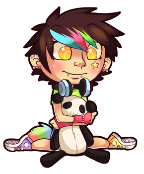 Rave and the Panda by TalinComill