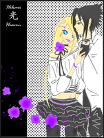 Violet_Roses_Art_Trade by Hikari-Lilith-Heaven