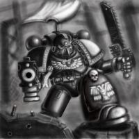 Space Marine Painting by cabal-art