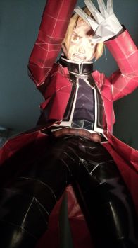 papercraft edward elric close up by itsthedust