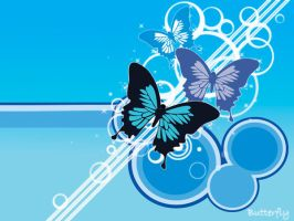 vector butterfly wallpaper by Blinnie