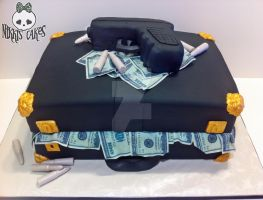 Briefcase stuffed with money cake by Corpse-Queen