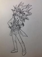 Yami (Pharaoh Atem) from book 1 sketch - 2/24/15 by Jestloo