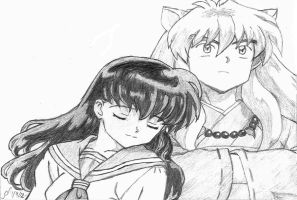 Kagome and InuYasha by SinisterSorrows