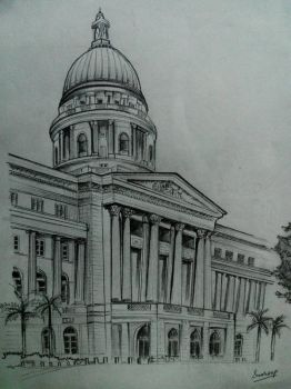 colonial architecture-my travel sketches by Swaroopashok