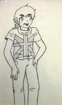 drawingOfEnglandWithaBrilliantTITLEboutBeing aPUNK by cutelupe