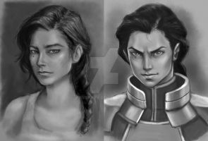 Commission: Kuvira Portraits by trixdraws