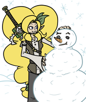 Its Snow Man's World by CoDeGreen