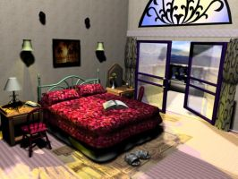 3D bed room by laserdance
