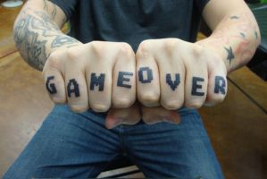 Game Over Fingers by LeviSmithArt