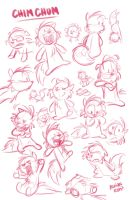 Chim Chum Sketch Exploration by toonbaboon